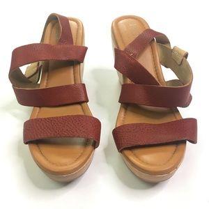 Madewell 1937 Footwear Wooden Platform Sandals